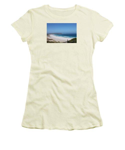 White Sand Beach Women's T-Shirt (Junior Cut) by Bev Conover