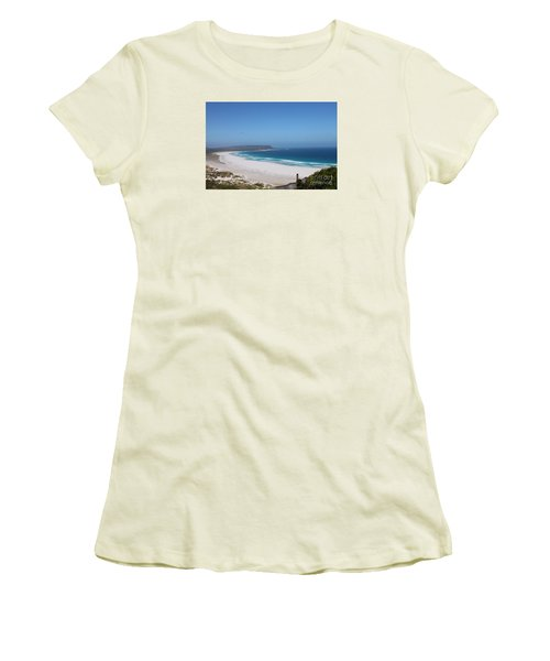 White Sand Beach Women's T-Shirt (Athletic Fit)