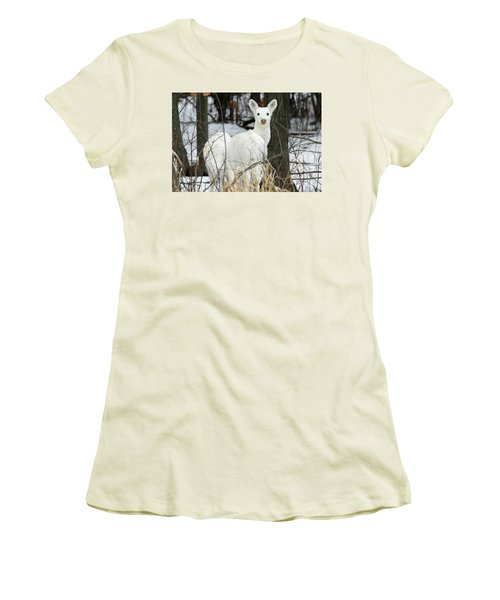 White Visitor Women's T-Shirt (Junior Cut) by Brook Burling