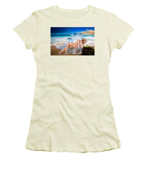 Women's T-Shirt (Junior Cut) featuring the photograph Whoops  ...  Marylin by Glenn Feron