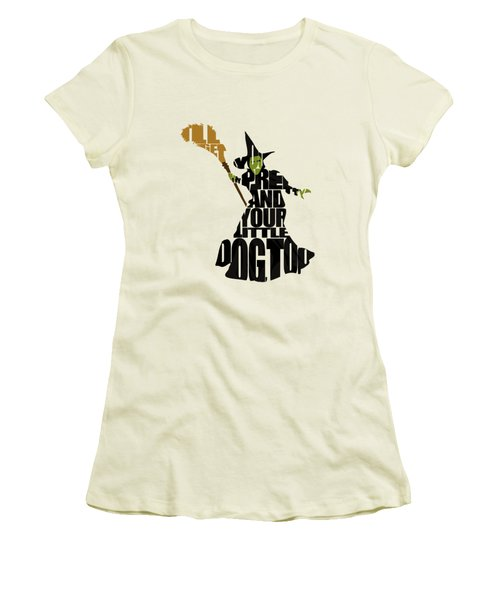 Wicked Witch Of The West Women's T-Shirt (Junior Cut) by Ayse Deniz