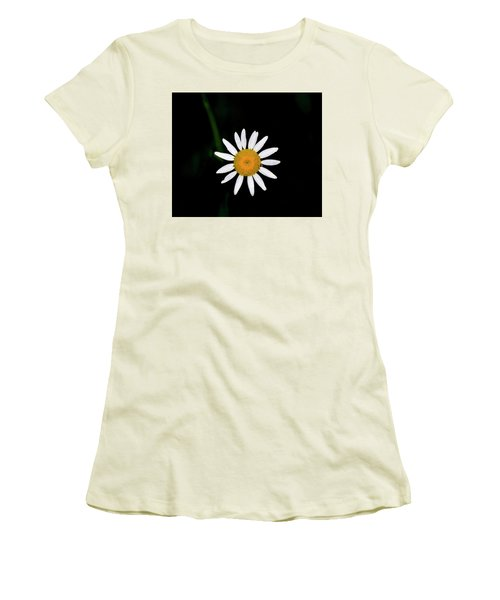 Women's T-Shirt (Junior Cut) featuring the digital art Wild Daisy by Chris Flees