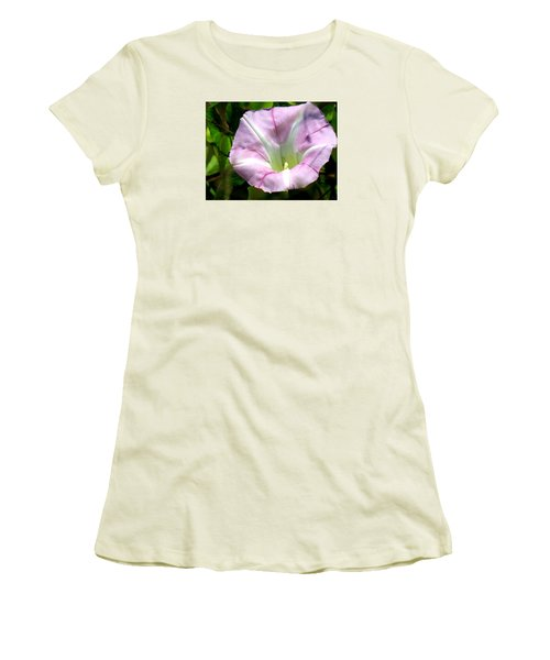 Women's T-Shirt (Junior Cut) featuring the photograph Wild Morning Glory by Eric Switzer