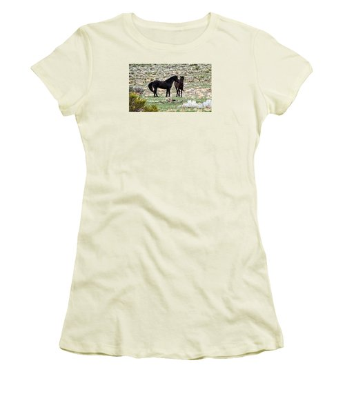 Wild Mustang Stallions Women's T-Shirt (Athletic Fit)