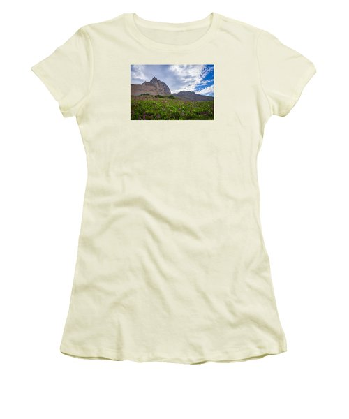 Women's T-Shirt (Junior Cut) featuring the photograph Wildflowers In The Grand Tetons by Serge Skiba