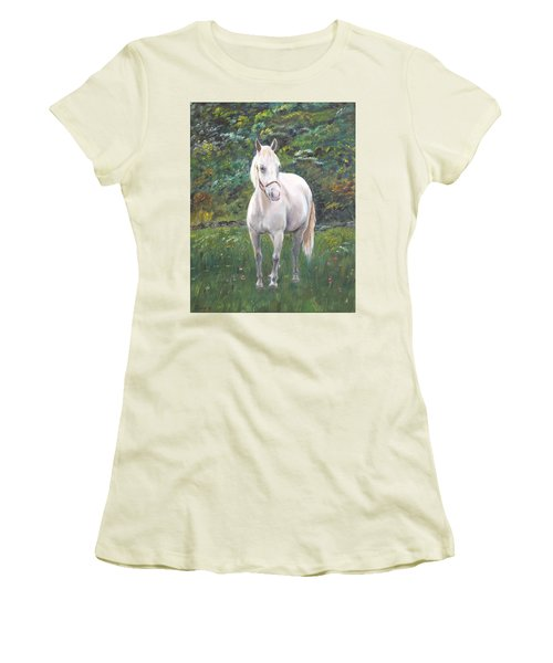 Women's T-Shirt (Junior Cut) featuring the painting Willow by Elizabeth Lock