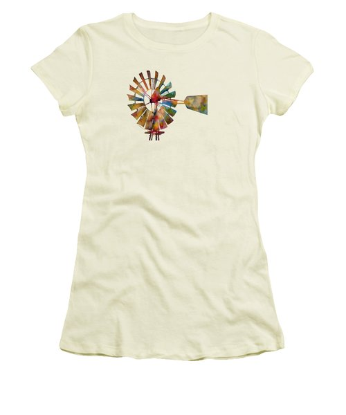 Windmill Women's T-Shirt (Athletic Fit)
