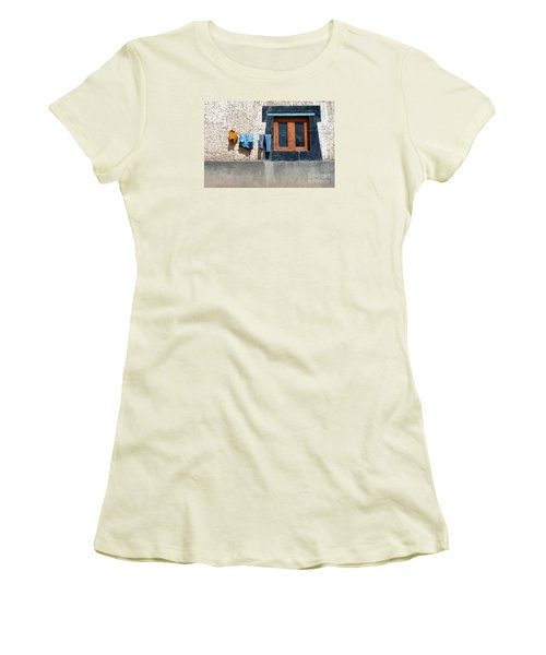 Women's T-Shirt (Athletic Fit) featuring the photograph Window by Yew Kwang