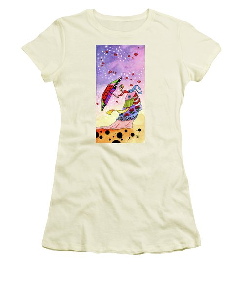 Windy Days Women's T-Shirt (Junior Cut) by Dawnstarstudios