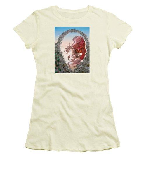 Winston Churchill, Women's T-Shirt (Athletic Fit)