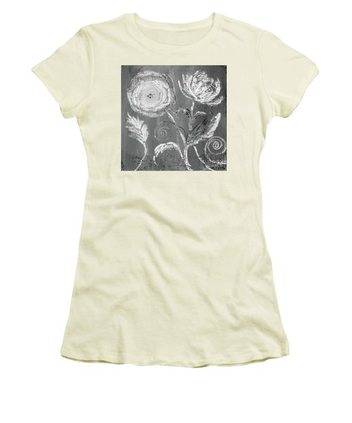 Women's T-Shirt (Athletic Fit) featuring the digital art Winter Bloom II by Robin Maria Pedrero