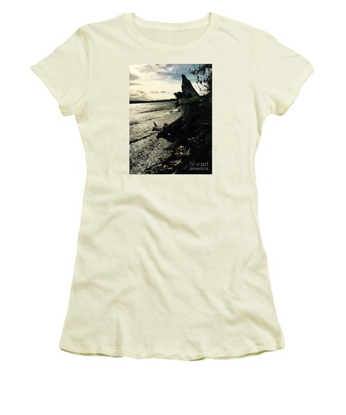 Winter Comes To The Sea Women's T-Shirt (Athletic Fit)