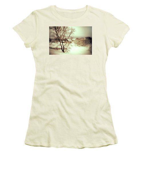 Winter Loneliness Women's T-Shirt (Junior Cut) by Jenny Rainbow