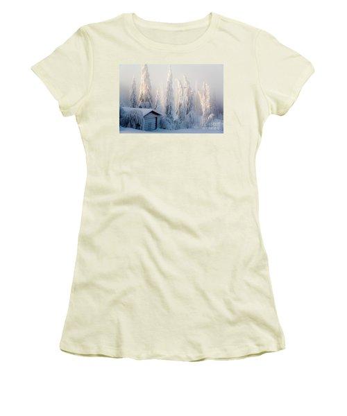 Winter Scene Women's T-Shirt (Athletic Fit)