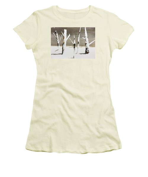 Winter Wood Women's T-Shirt (Athletic Fit)