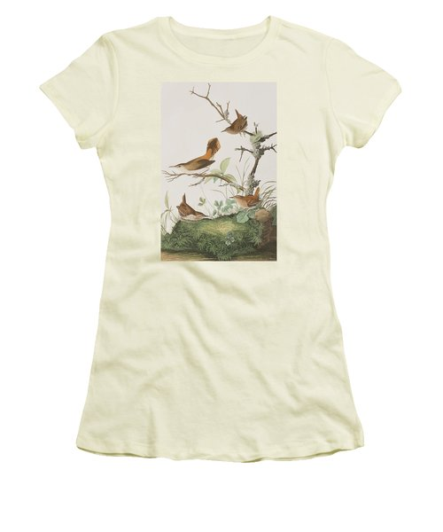 Winter Wren Or Rock Wren Women's T-Shirt (Athletic Fit)