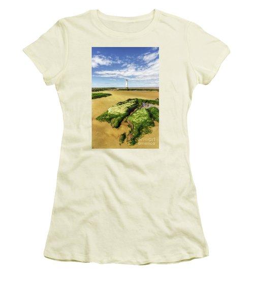 Wirral Lighthouse Women's T-Shirt (Junior Cut) by Ian Mitchell