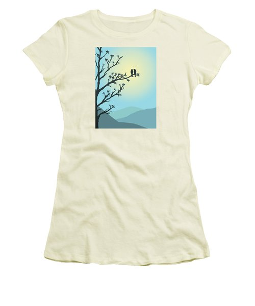 Women's T-Shirt (Junior Cut) featuring the digital art With You By My Side by Christina Lihani