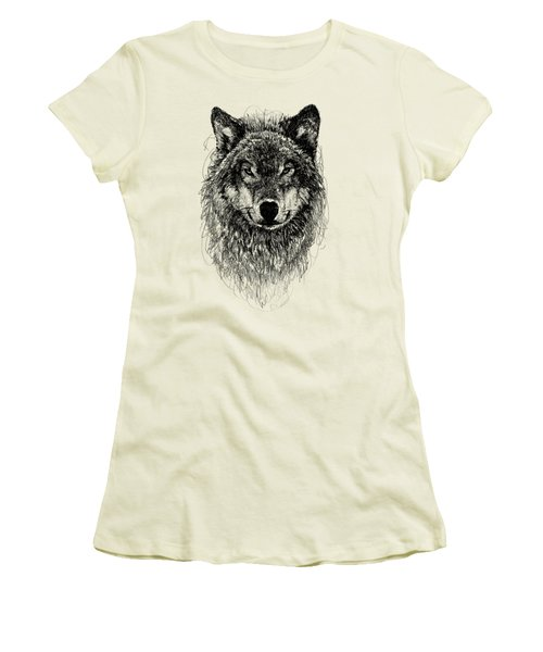 Wolf Women's T-Shirt (Junior Cut) by Michael Volpicelli