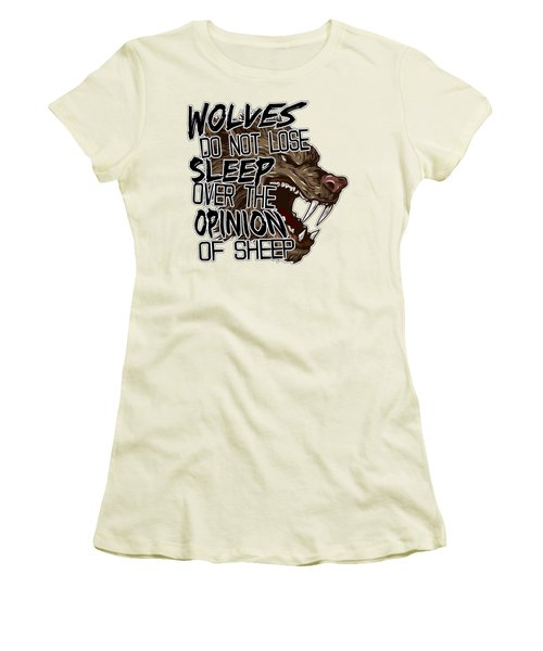 Wolves And Sheep Women's T-Shirt (Junior Cut) by Michelle Murphy