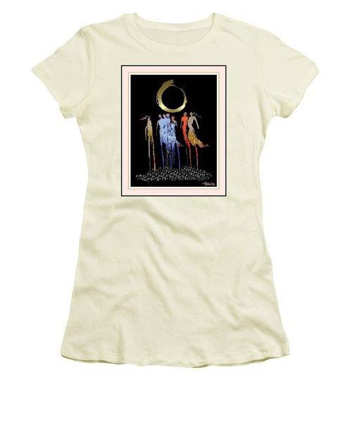 Women Chanting - Enso  Women's T-Shirt (Athletic Fit)