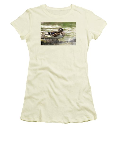 Wood Duck Hen Women's T-Shirt (Athletic Fit)
