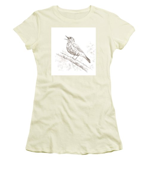 Wood Thrush Women's T-Shirt (Athletic Fit)