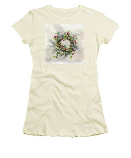 Woodland Berry Wreath Women's T-Shirt (Athletic Fit)