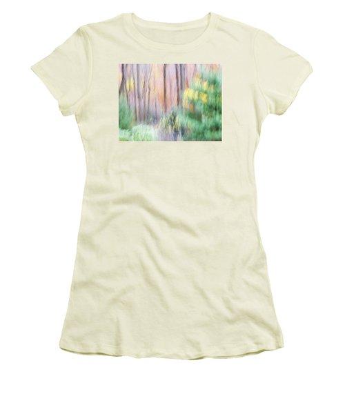 Woodland Hues 2 Women's T-Shirt (Junior Cut) by Bernhart Hochleitner