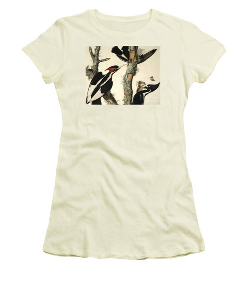 Woodpecker Women's T-Shirt (Athletic Fit)