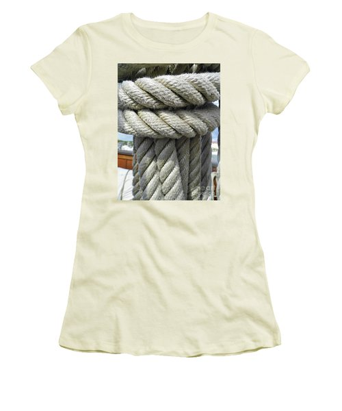 Wrapped Up Tight Women's T-Shirt (Junior Cut) by D Hackett