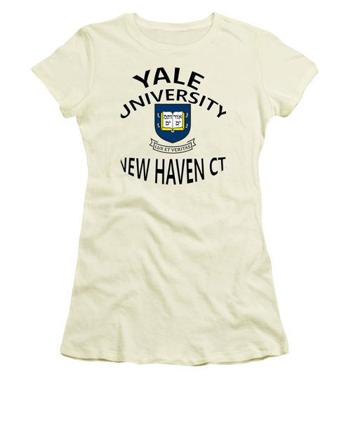 Yale University New Haven Connecticut  Women's T-Shirt (Junior Cut) by Movie Poster Prints