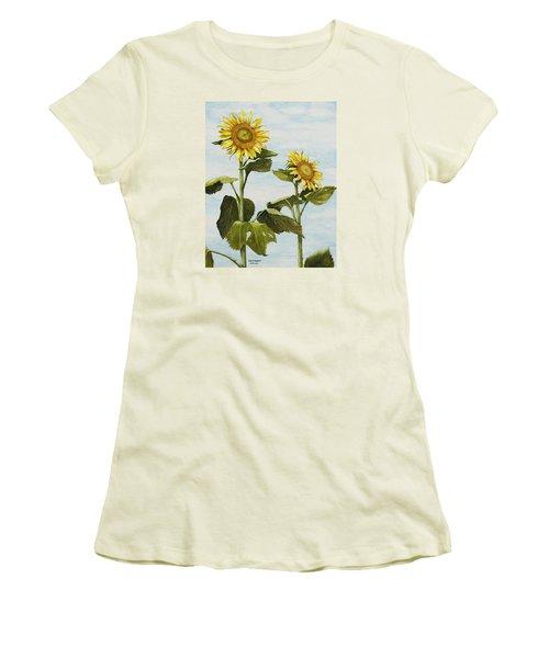 Yana's Sunflowers Women's T-Shirt (Athletic Fit)