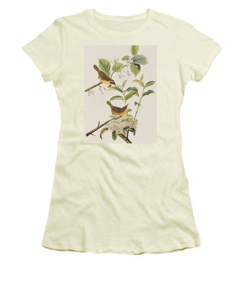 Yellow-breasted Warbler Women's T-Shirt (Junior Cut) by John James Audubon