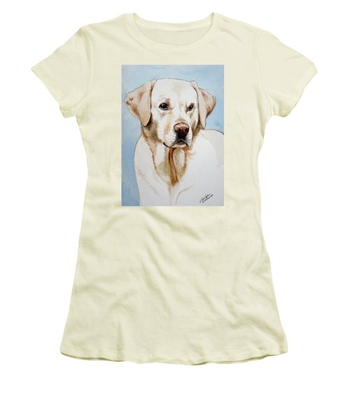 Yellow Lab Women's T-Shirt (Athletic Fit)
