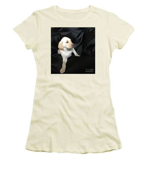 Yellow Lab Puppy Sadie Women's T-Shirt (Athletic Fit)