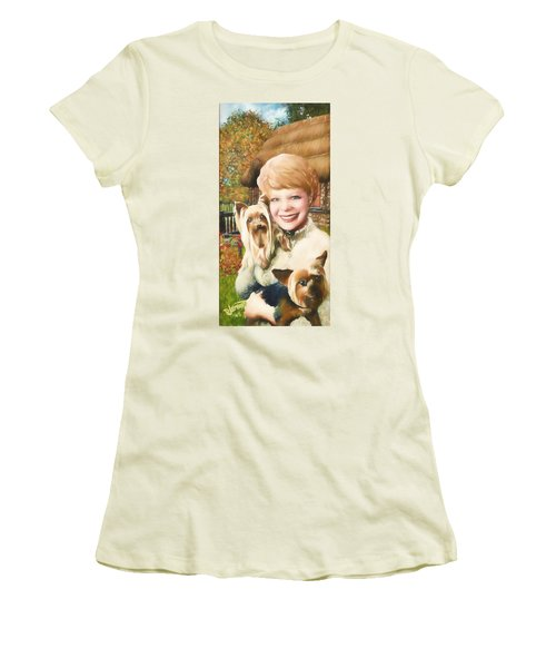 Yorkshire Lady Women's T-Shirt (Junior Cut) by Dave Luebbert