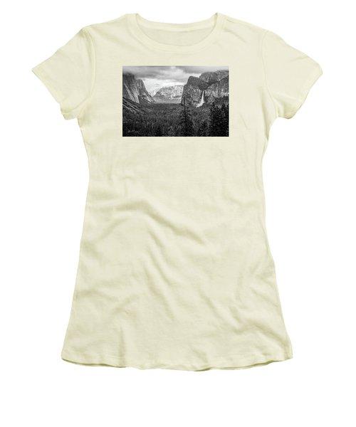 Yosemite View 38 Women's T-Shirt (Junior Cut) by Ryan Weddle