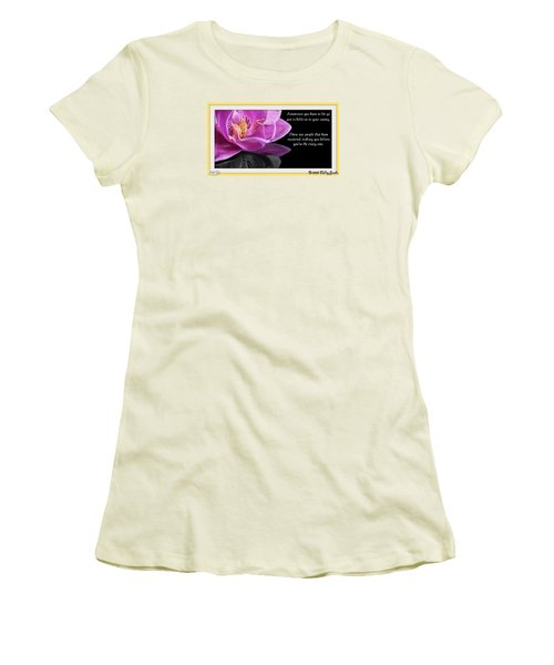 You Have To Let Go Women's T-Shirt (Junior Cut) by Holley Jacobs