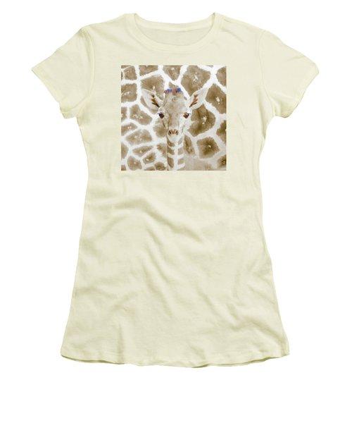 Young Giraffe Women's T-Shirt (Athletic Fit)