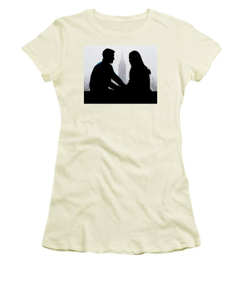 Women's T-Shirt (Athletic Fit) featuring the photograph Young Love     by Chris Lord