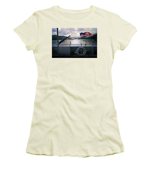 Women's T-Shirt (Junior Cut) featuring the photograph Yukon Queen by Ann Lauwers
