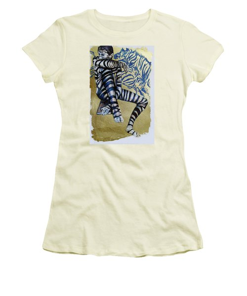 Zebra Boy The Lost Gold Drawing  Women's T-Shirt (Athletic Fit)