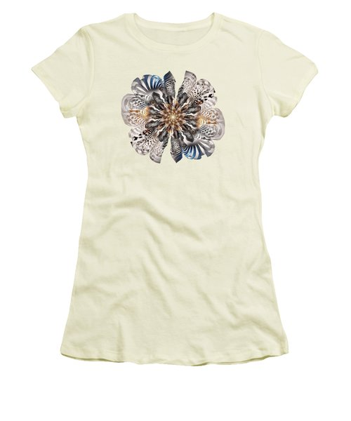 Zebra Flower Women's T-Shirt (Athletic Fit)
