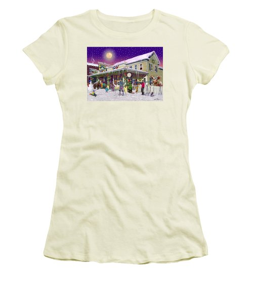 Zebs General Store In North Conway New Hampshire Women's T-Shirt (Junior Cut) by Nancy Griswold
