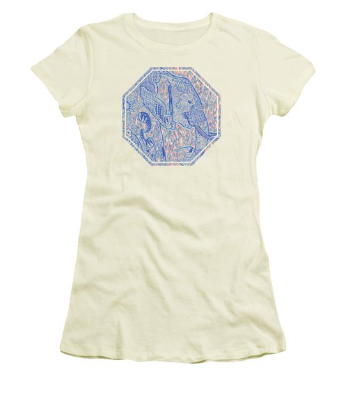 Zentangle Elephant-oil Women's T-Shirt (Athletic Fit)