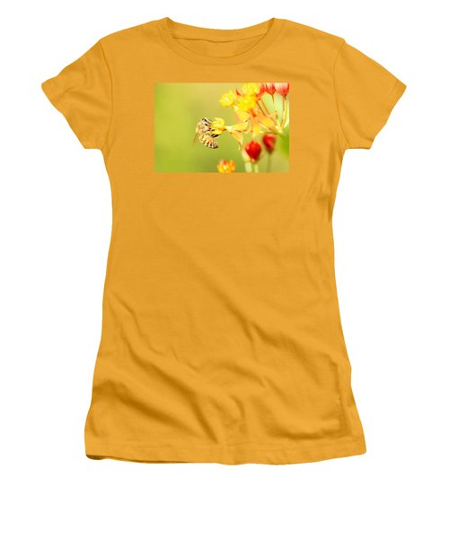 Bee On Milkweed Women's T-Shirt (Athletic Fit)