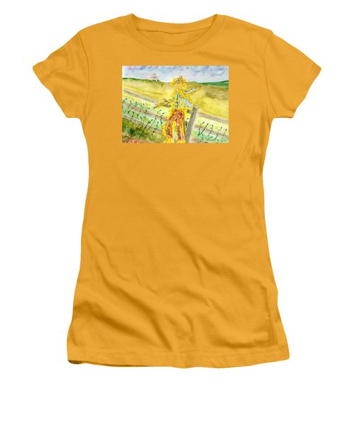 Napping Scarecrow Women's T-Shirt (Athletic Fit)