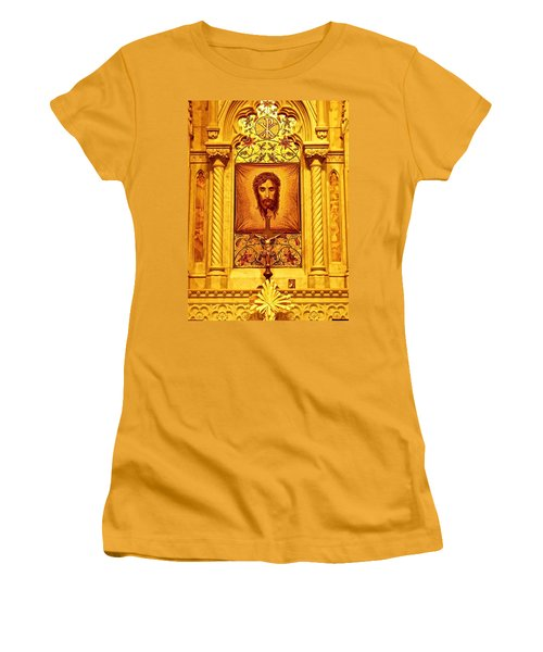 Women's T-Shirt (Junior Cut) featuring the photograph  St. Patrick Nyc  Altar by Joan Reese