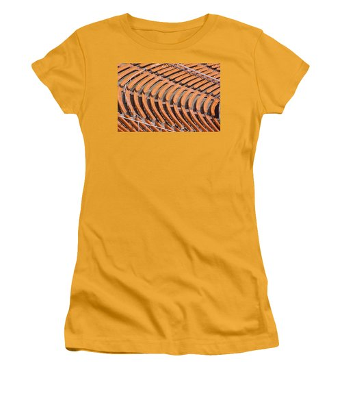 Abstract Pattern - Rows Of The Stadium's Seats Women's T-Shirt (Athletic Fit)
